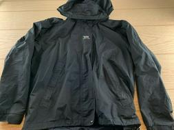 Helly Hansen Size Medium Black Full Zip Hooded Rain Snow Coa