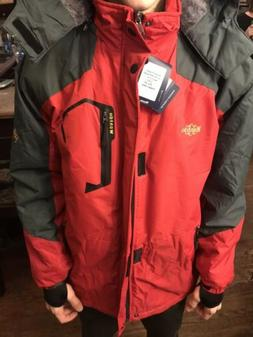 WANTDO SKI JACKET WITH HOODIE & SHERPA LINING RED MENS SIZE