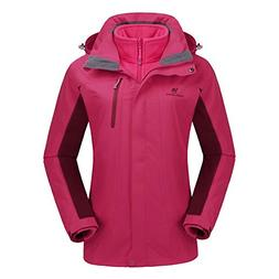 CAMEL CROWN Women's Ski Waterproof Jacket Fleece Inner Bre