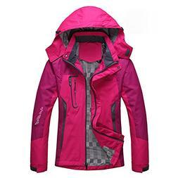 Women's Casual Waterproof Outdoor Jacket-Diamond Candy Hoode
