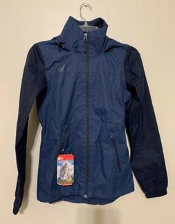 TNF North Face Resolve Plus Jacket Navy Blue Rain Coat Women