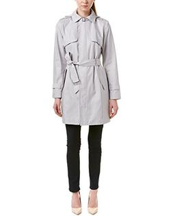 Cole Haan Signature Womens Today's Fix Trench Coat, S, Grey