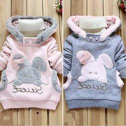 Toddler Baby Kids Girls Hoodie Pullover Rabbit Hoody Jacket