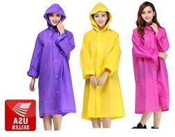Transparent EVA Women's Raincoat Waterproof Outdoors Jacke