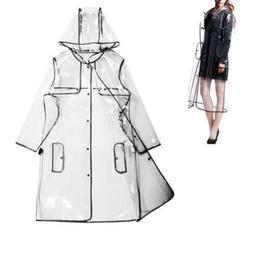 Transparent Hoodie Clear Rainwear Runway Raincoat Women Girl
