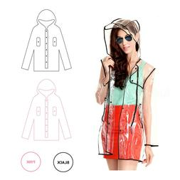 Wellness Seer Transparent Raincoat PVC Rain Coat with Hoodie
