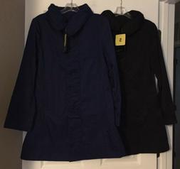 Rainforest Travel Rain Jacket/Coat w/ Hood Black or Cobalt X
