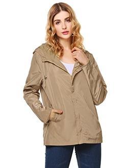 unibelle Raincoat Women rain Jacket Waterproof Lightweight H
