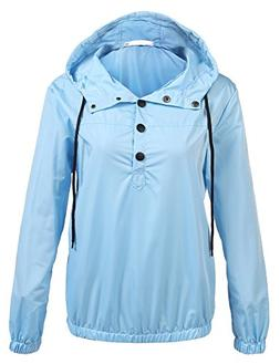 unibelle Windbreaker Ladies Cool Light Weight Rain Parka(B