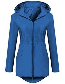 unibelle Women's Lightweight Waterproof Rain Jacket Active O