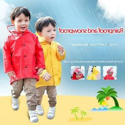 Unisex Boys Girls Kids Children Dinosaur Raincoat Umbrella K