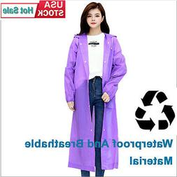 Unisex EVA Raincoats Adult Rain Coat Rainwear Poncho Camping