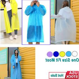 Men Women Raincoat Adult Emergency Rain Coat Poncho Hiking C