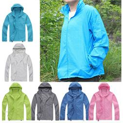 Unisex Sports Cycling Running Hiking Hooded Outwear Jacket H