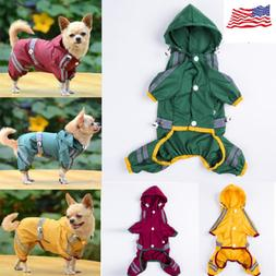 US Dog Raincoat Waterproof Outdoor pet Doggie Rain Coat Rain