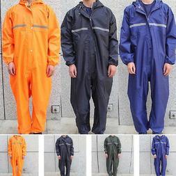 US Motorcycle Rain Suit Raincoat Overalls Waterproof Men Coa