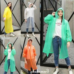 US Waterproof Jacket Hooded Raincoat Rain Coat Poncho Rainwe
