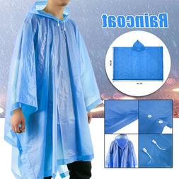 US Waterproof Jacket Rain Coat Mens Ladies Adults Womens Lon