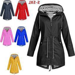 Women Long Sleeve Hooded Wind Jacket Lady Outdoor Waterproof