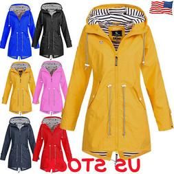 us womens long sleeve hooded wind jacket