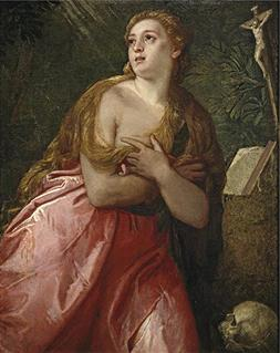 'Veronese Paolo Penitent Mary Magdalene 1583 ' Oil Painting,