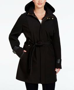 Via Spiga Plus Size Women's Faux-Leather-Trim trench coat ja