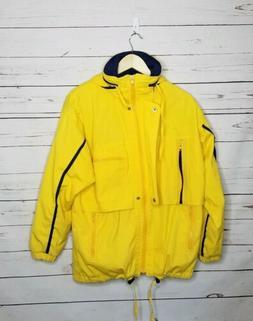 Vintage rain jacket raincoat yellow womens medium by Innovat