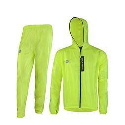 Rockbros High Visibility Cycling Rain Jacket Men's Windproof