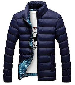 LeNG Mens Vogue Stand Collar Lightweight Quilted Down Puffer