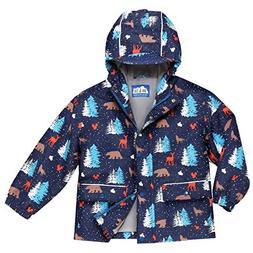JAN & JUL Kids Water-Proof Fleece-Lined Rain-Coat Jacket Hoo