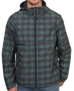 PRANA WATER RESISTANT OUTERWEAR TEAL PLAID COAT JACKET $139