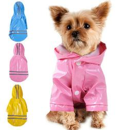 Waterproof Dog Hooded Raincoat Rain Coat Pet Jacket Puppy Cl