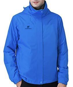 CAMEL CROWN Mens Waterproof Jacket Hooded Windbreaker Windpr