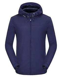 Spmor Women's Waterproof Lightweight Jacket Rain Coat Windpr