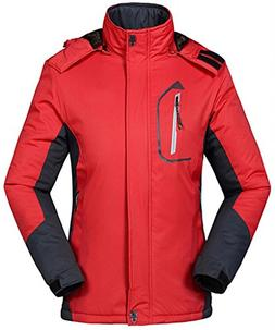 Wantdo Women's Waterproof Mountain Jacket Fleece Outdoor Coa