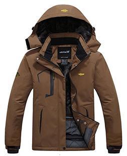 Wantdo Men's Waterproof Mountain Jacket Fleece Windproof Ski