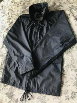 Portwest Waterproof Rain Coat with Hood Navy Blue Mens Size