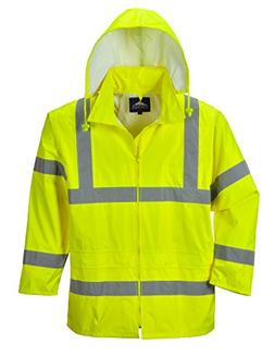 Portwest Waterproof Rain Jacket, Lightweight, Yellow, 2X-Lar