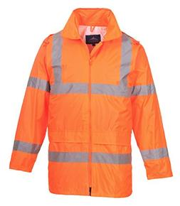 Portwest Waterproof Rain Jacket, Lightweight, Orange, XX-Lar