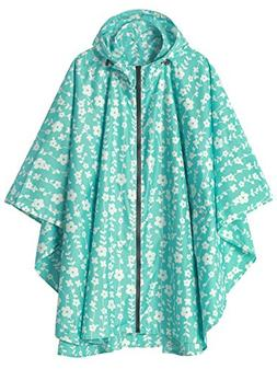 LINENLUX Waterproof Rain Poncho Jacket Coat for Adults Hoode