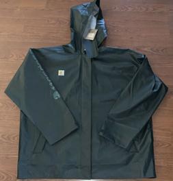 Carhartt Waterproof Rain Storm Coat Mens Large Canopy Green