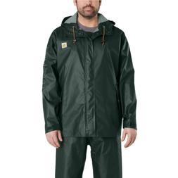 Waterproof Rain Storm Coat Mens Medium Canopy Green Safe Pol