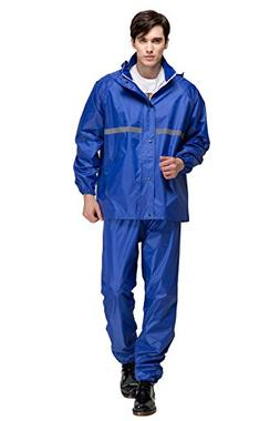 Aircee Waterproof Raincoat Outdoor Hooded Rain Jacket Pant a