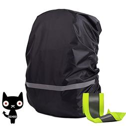 OOKOO Waterproof & Reflective Backpack Cover Rain Cover, Rai