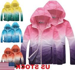 Waterproof Sunscreen Jacket Mens US Coat Rain Lightweight Ov