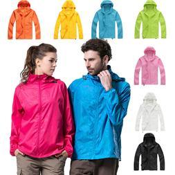 Waterproof Windproof Jacket Mens Womens Oversized Lightweigh