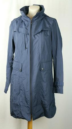 windbreaker jacket rain coat navy cinch waist