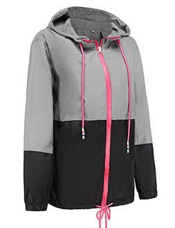 Windbreaker Packable Bomber Rain Jacket Ladies Waterproof Ja