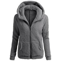 kaifongfu Winter Coat Women, Hooded Sweater Coat Winter Warm