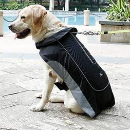 UsefulThingy Winter Coats for Dogs - Rain Jacket with Reflec